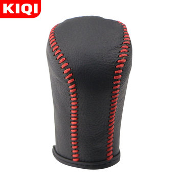 KIQI Leather Gear Shift Knob Cover for Toyota Corolla RAV4 RAV 4 AT 2014 2015 2016 2017 2018 2019 Gear Shift Collars Accessories image
