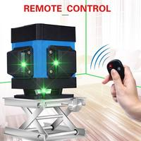 12 Line Green Light Laser Level High Precision Flat Glare Floor Tile Leveling Instrument Ground Line Intelligent Remote Control