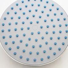 8 дюймов негабаритные круглые Топ с декоративной полосой Душевая насадка распылитель Ванная комната осадков высокое Давление тропический душ экономии воды