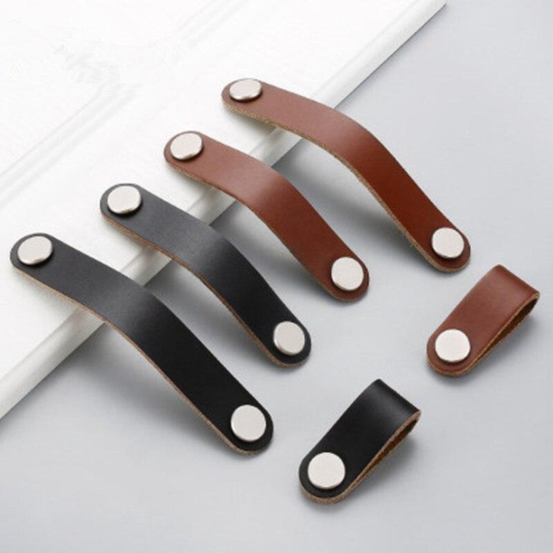 Cabinet Handle Soft PU Leather Dresser Drawer Door Knobs Pull Furniture Hardware Dresser Knobs Furniture Knob Kitchen Knobs