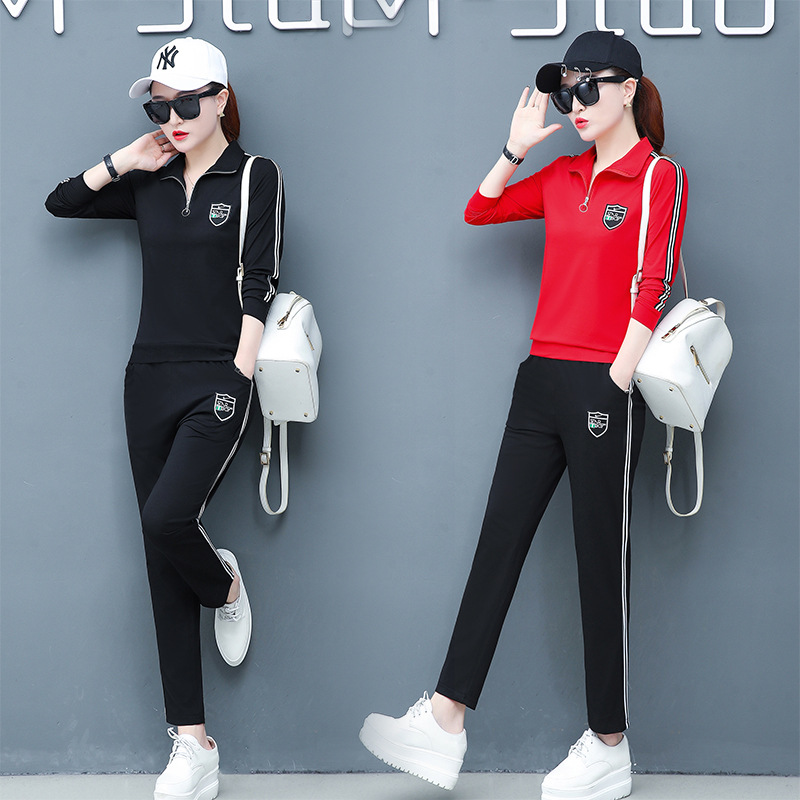 118 Spring And Autumn Long Sleeve Pure Cotton Sailor Dance Trolling Ghost Step Dance Square Dance Clothing Fitness Running Sport