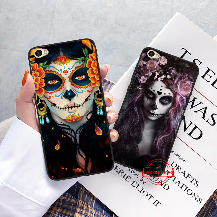 WEBBEDEPP Mexican Skull Skin Silicone Case for Xiaomi Redmi Note 4X 5 6 7 Pro 5A Prime in Fitted Cases from Cellphones Telecommunications