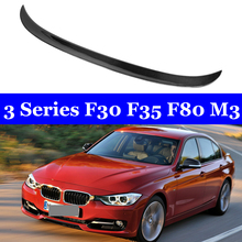 For BMW 3 Series F30 F35 F80 M3 AC Style Real Carbon Spoiler 320i 328i 335i 326D 2012-2018 for bmw f30 f80 m3 spoiler carbon fiber material m performance style 2012 up 320i 328i 335i 326d f30 carbon fiber