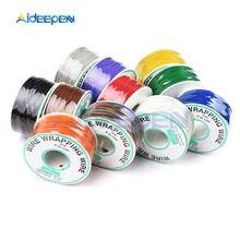 280m 30AWG owijanie PCB drut miedź cynowana kabel Breadboard Jumper izolacja elektroniczne złącze żyłowe przewodu 7 kolorów