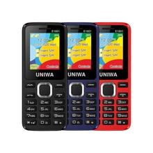 UNIWA E1801 Dual SIM Dual Standby 1.77% 27% 27 800mAh MP3 MP4 FM Radio с фонариком громким динамиком 8 Day Standby Senior Feature Phone