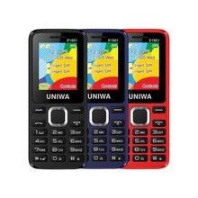 UNIWA E1801 Dual SIM Dual standby 1.77'' 800mAh MP3 MP4 FM Radio with Flashlight Loud Speaker 8 Day