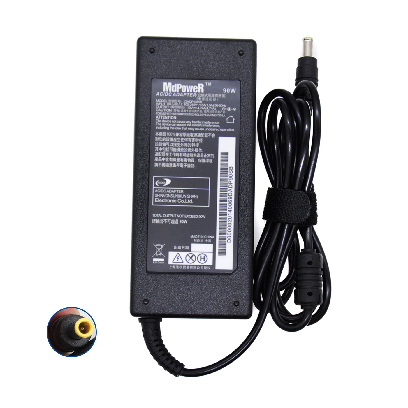 Para samsung RF511 RF710 RF711 RF712 AD-9019S NP 770Z5E 780Z5E 870Z5E 19V 4.74A 870Z5G fonte de alimentação portátil carregador adaptador AC