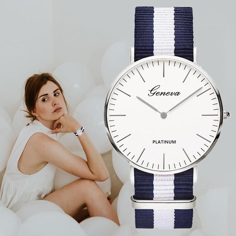 Unisex Nylon Band Watch Hodinky Top Brand Men Women Sport Watch Fashion Minimal Quartz Watch Hot Gift Drop Shipping Montre Homme