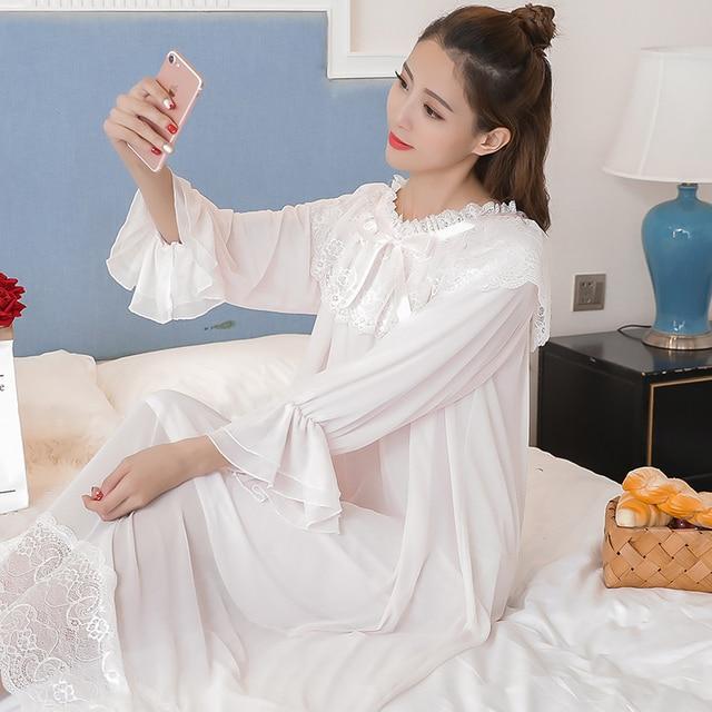 Princess Maternity White Night Dress 2
