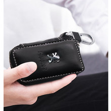 Модные кожаные автомобильный брелок для ключей сумка мульти Функция бумажник чехол для Peugeot 107 108 206 207 308 307 407 508 2008 3008 RCZ