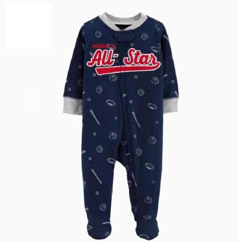 Комбинезон для маленьких девочек с рисунком единорога; зимняя одежда для новорожденных мальчиков с длинными рукавами; 0-12 месяцев; с круглым вырезом; на молнии; - Цвет: 10