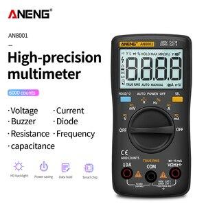 Image 2 - Цифровой мультиметр ANENG AN8001, профессиональный, 6000 отсчетов, тестер конденсаторов, универсальный тестер напряжения