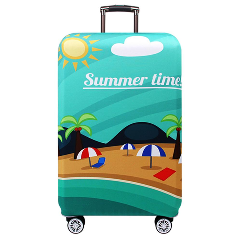 Luggage Protective Cover Apply 24'' Thick And Wearable Luggage Case (world Map World Travel Summer Time Multiple Popular Prints)