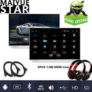 13.3-inch Android 9.0 car headrest monitor HD 1080P ultra-thin touch screen WIFI/Bluetooth/USB/SD/HDMI/FM/Mirror Link/Miracast(China)
