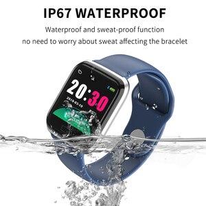Image 4 - Bluetooth Smartwatch Sport Watch B57 Wrist Watch Blood Pressure Watch For Men Women Waterproof Watches Pedometer Smart Wristband