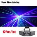 12 шт./лот диско лазерные изображения линии луч сканирует DMX DJ танцевальный бар кофе Рождественская домашняя дискотека эффект осветительная ...