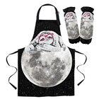 Sloth Moon Lazy Blac...