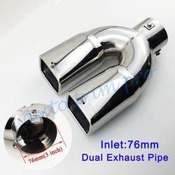 Uniwersalny 3 Cal 76mm średnica tłumik tylny rura wydechowa tłumik wskazówka pokrywa wykończenia