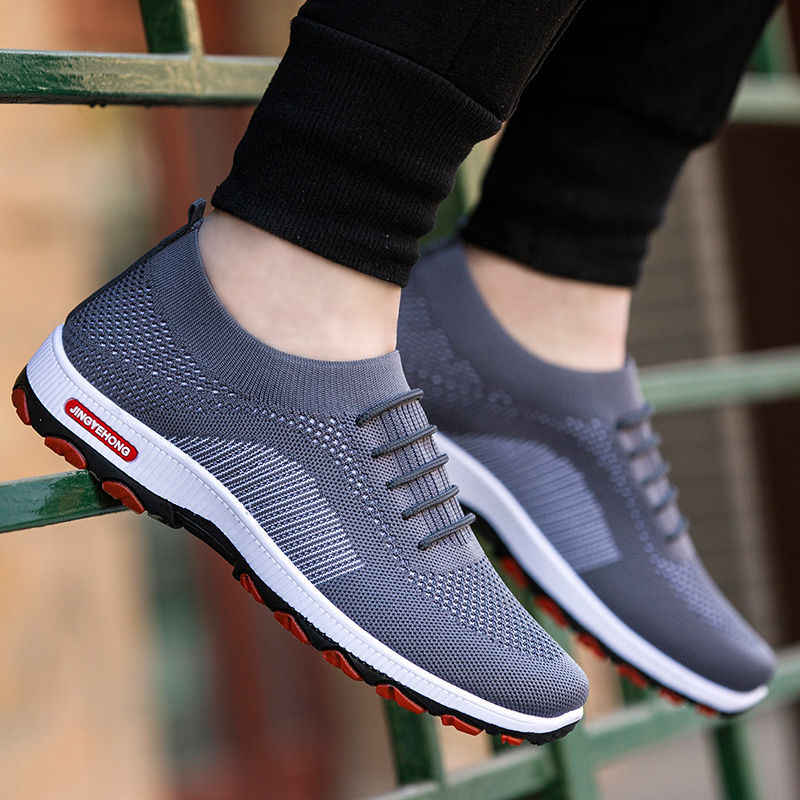 WENYUJH Sneakers moda açık erkek renkli yüksek kaliteli marka bandaj nefes ayakkabı örgü yumuşak harfler tenis erkek ayakkabı