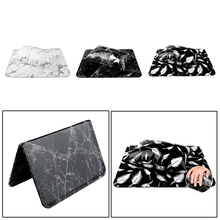 Mat Set for Nail Art Design Manicure 1x Hand Rest Arm Holder Cushion Pillow White Marble
