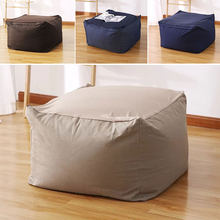 Lazy Bean Bag Sofas Cover Chairs without Filler Linen Cloth Lounger Seat Pouf Puff Couch Tatami Living Room(China)