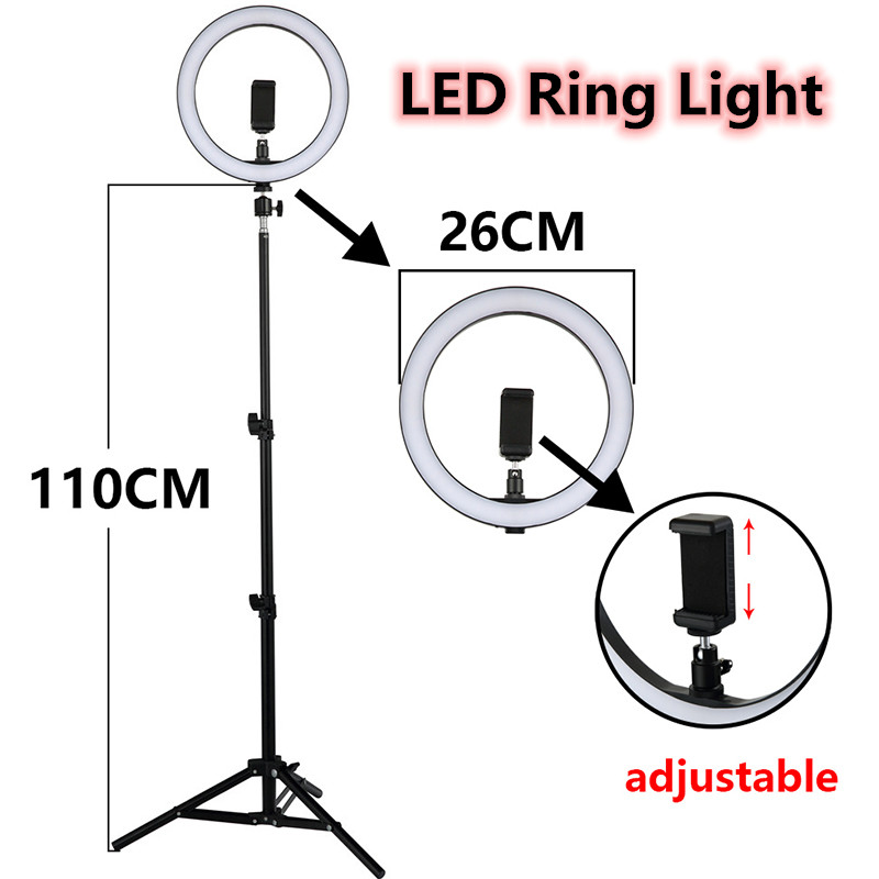 LED Ring Light 12W 5500K Studio Photography Selfie Creativ Lights Fill Ring Lamp With Tripod For Iphone Yutube Video Makeup Gift