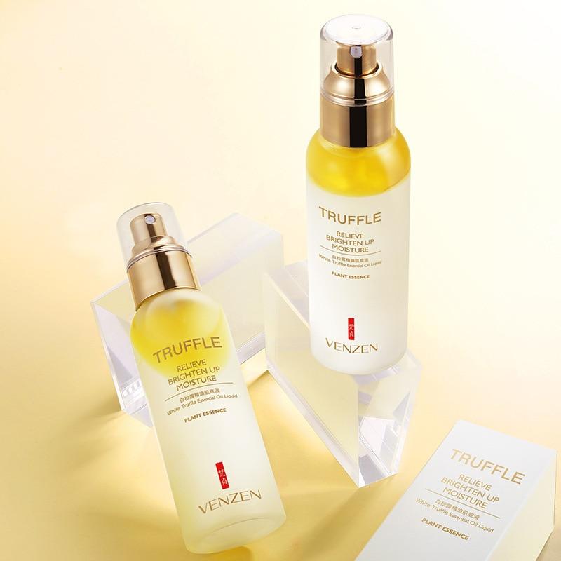 Venzen White Truffle Essential Oil Liquid Relieve Brighten Up Moisture Face Toners Tonico Facial Lotion Shrink Pore Skin Care