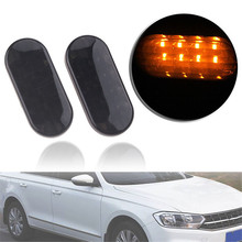 A Pair LED Amber Smoke Side Marker Light Car Side Light For VW 98-04 Golf Jetta Passat GTI R32 Beetle front mount intercooler piping kit for 98 05 vw jetta golf gti with 1 8l 1 8t turbochaged l4 engines only