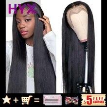 T parte do meio em linha reta do cabelo humano perucas frontais do laço cutícula alinhada cabelo pré arrancado natural perucas da linha fina para o cabelo humano da mulher
