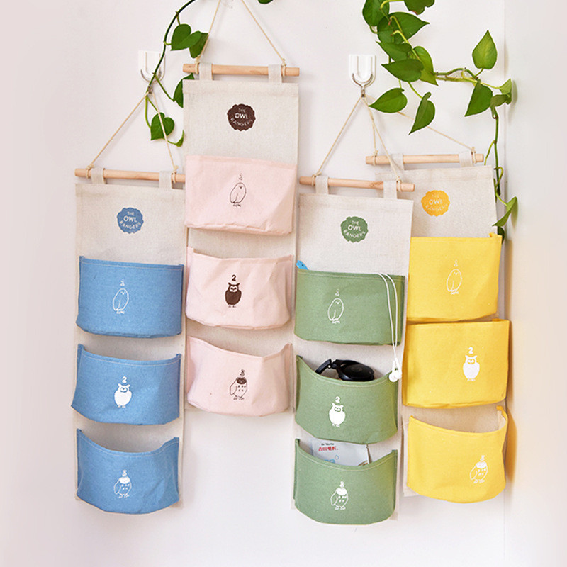 INS Nordic Wall-mounted Colorful Storage Bag  In Crib Infant Room Decor Photography Props Newborn Baby Bedroom Decoration Pacify