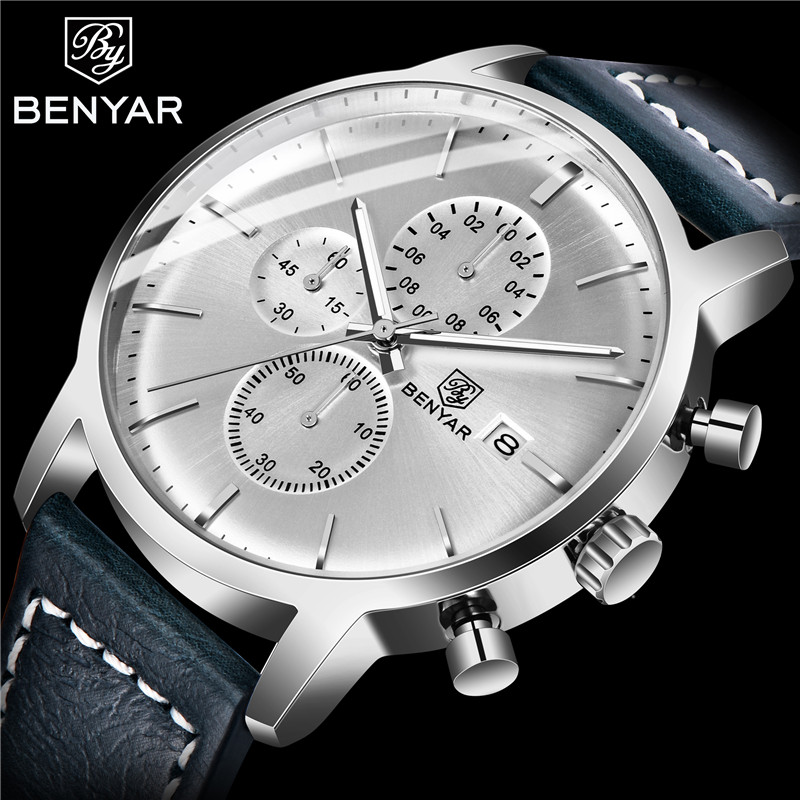 BENYAR Men's Watches Business/Fashion Mens Watches Military/Sports/Chronograph Top Brand Luxury Wristwatch Mens Reloj Hombre NEW