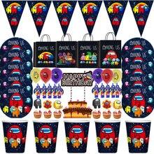 Décorations de fête d'anniversaire à thème de jeu vidéo, sac-cadeau pour enfants, fournitures de table jetables, gobelets, assiettes, serviettes, Baby Shower