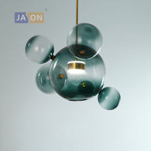 LED Nordic Iron Glass Bubble Gold Silver Designer LED Lamp LED Light.Pendant Lights.Pendant Lamp.Pendant light For Dinning Room