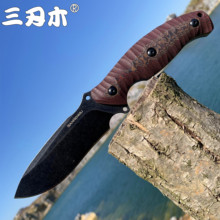 SANRENMU NEW S745 Fixed Blade Knife With K Sheath 14C28 Blade outdoor camping utility survival tactical hunting knife EDC Tool