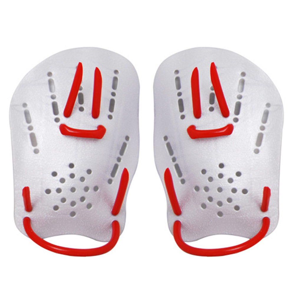 1 Pair Swimming Paddle Adjustable Diving Workout Training Pool Children Adult Gloves Silicone Fins Aid Ergonomic