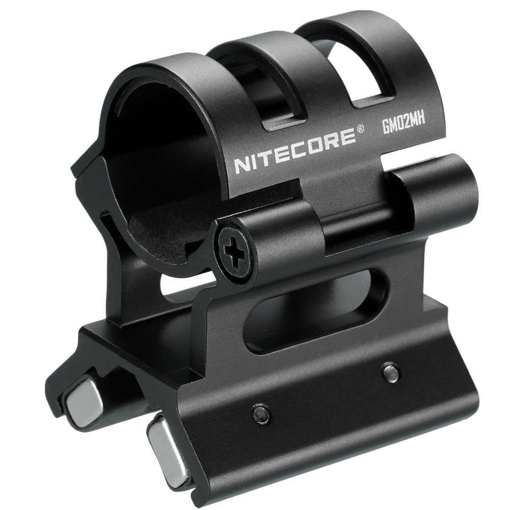 NITECORE GM02MH montura de pistola magnética 24 ~ 26mm accesorios de linterna aleación de aluminio adecuado MH27UV MH20 MH10 SRT7GT MH25GT
