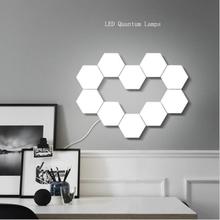NEW Touch Sensitive Hexagonal Lamps Quantum Modular LED Night Light Hexagons Creative Decoration Wall Lamp cheap Yabstrip Atmosphere CN(Origin) ROHS Quantum lamp Night Lights None LED Bulbs motion 90-260V HOLIDAY 0-5W