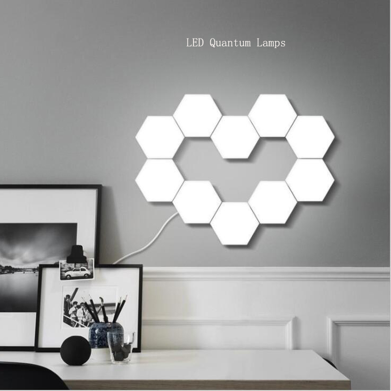NEW Touch Sensitive Lighting Lamp Hexagonal Lamps Quantum Lamp Modular  LED Night Light  Hexagons Creative Decoration Lamp