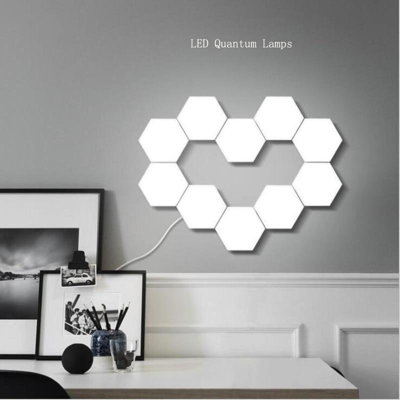NEW Touch Sensitive Lighting Lamp Hexagonal Lamps Quantum Lamp Modular  LED Night Light  Hexagons Creative Decoration Lamp