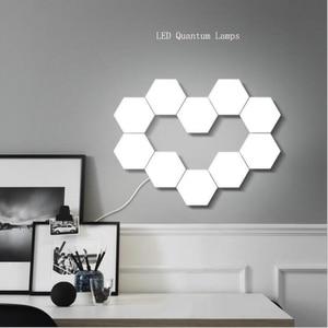 NEW Touch Sensitive Lighting Lamp Hexagonal Lamps Quantum Lamp Modular LED Night Light Hexagons Creative Decoration Lamp(China)