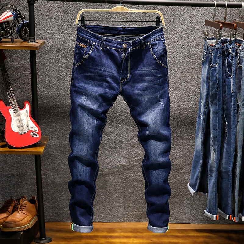 2018 Spring And Summer New Style Slim Fit Pants Jeans Men's Trend Students Cowboy Trousers Q Group: 624164717
