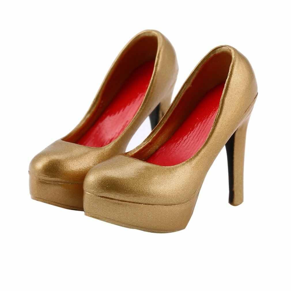 OCDAY 1/6 ölçekli kadın yüksek topuk ayakkabı platformu mahkeme ayakkabı 12 inç bebek için hediye kızlar için aksiyon figürü oyuncak vücut aksesuarları