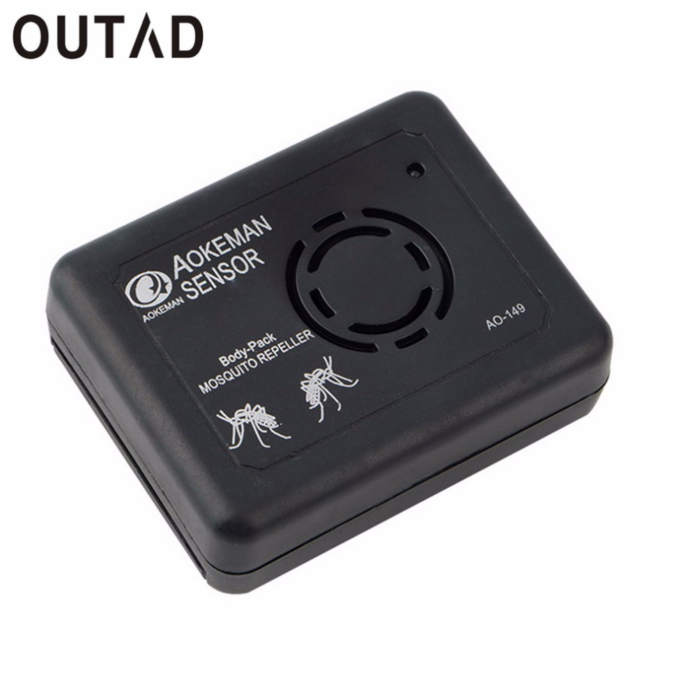 OUTAD Portable Electronic Ultrasonic Anti Mosquito Repeller Frequency Sound Switch Fishing Camping Mosquito Repeller Hot