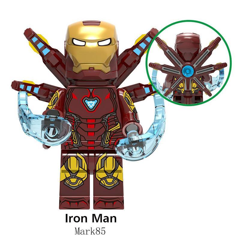 1pcs Avengers 4 Endgame Marvel Iron Man Hulkbuster Mini Super Heroes Figures Building Blocks Bricks Legoinglys Toys For Children