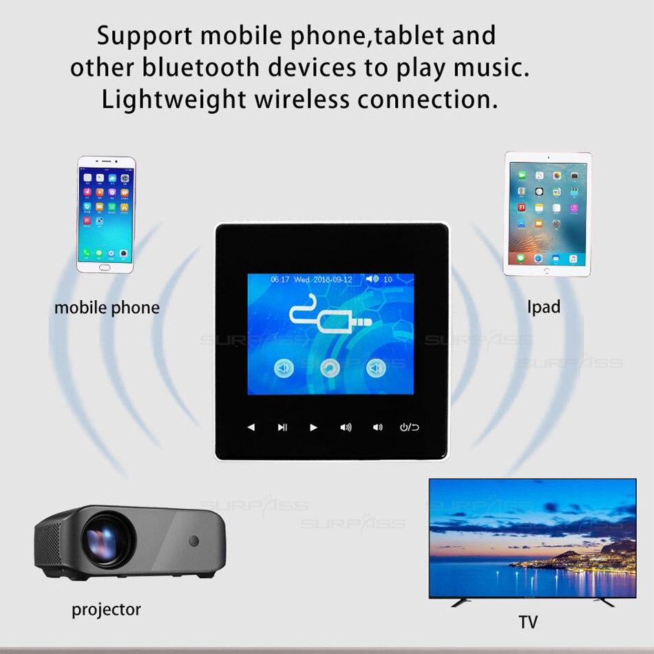 Bluetooth Smart Control Musik System Decke Lautsprecher Module Home Audio System Digital Stereo Verstärker In Wand Wasserdicht