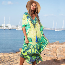 Print Cotton Plus Size Beach Dress Sarong 2019 Sarong Beach Cover Up Women Tunic Robe De Plage Swimsuit Cover Up Beachwear random floral print plus size beach cover up