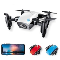 S9 Folding Mini Unmanned Aerial Vehicle Aerial Remote control Aircraft WiFi Image Transmission Set High Small Aircraft Drone|  -