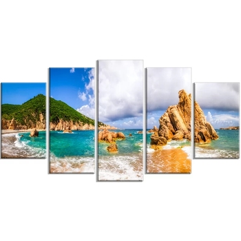Wall Art Canvas Paintings Scenic Costa Paradiso Home Decor 5 Pieces Picture Hd Prints Modern Poster For Bedroom Modular Framed image