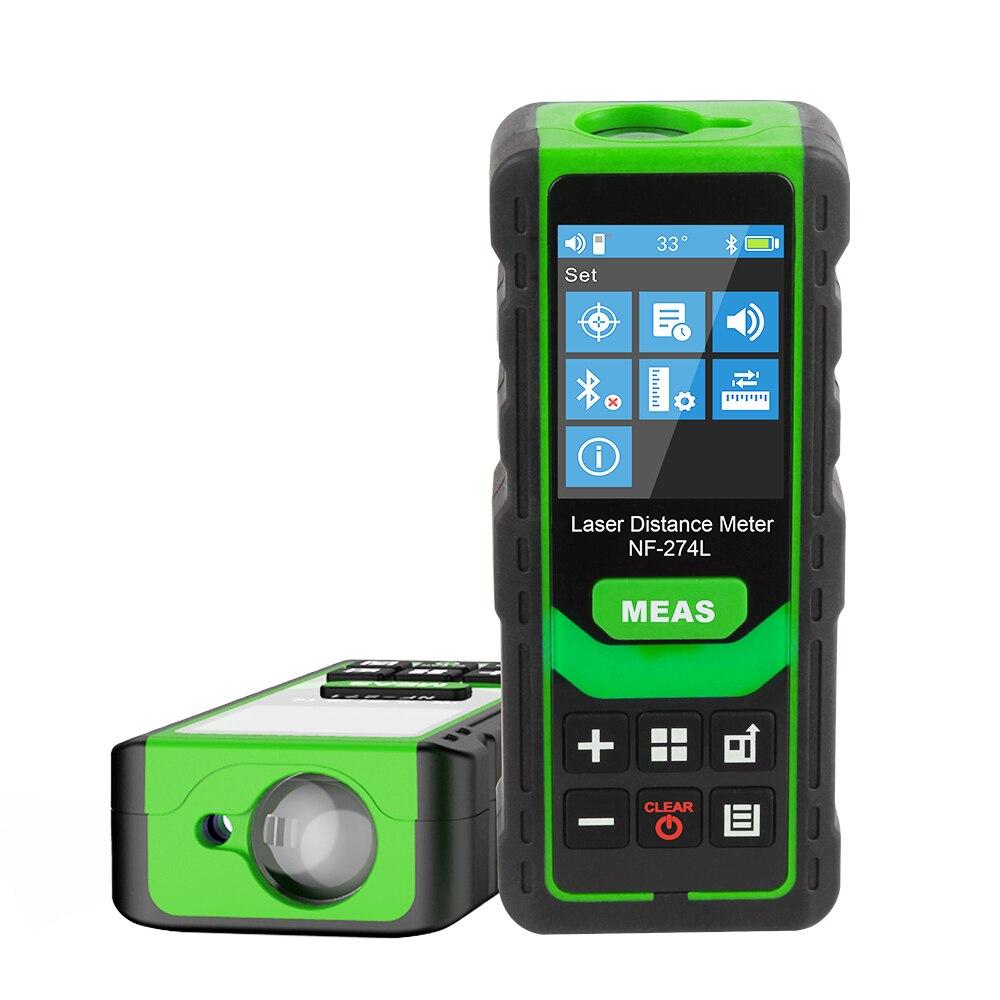 Noyafa NF-274L Green Laser Distance Meter 60M 80M 100M Rangefinder Laser Tape Range Finder Measure Electronic Level Test Tool