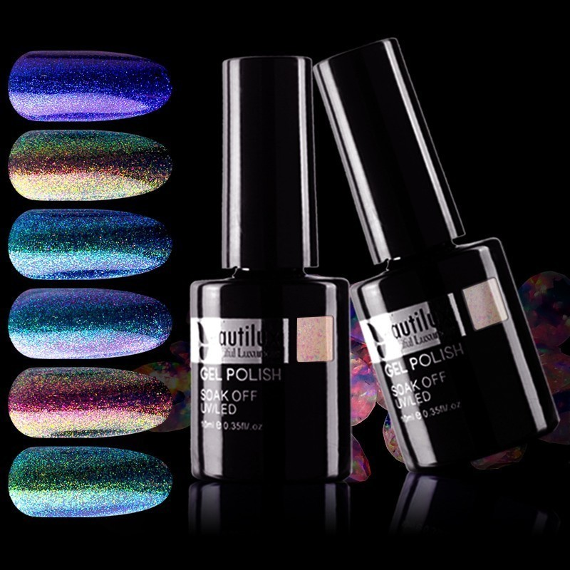 Beautilux 1pc Chameleon Aurora Color Changing Nail Gel Polish Soak Off Gels Nail Art Varnish UV LED Gel Lacquer Esmalte 10ml|Nail Gel| - AliExpress